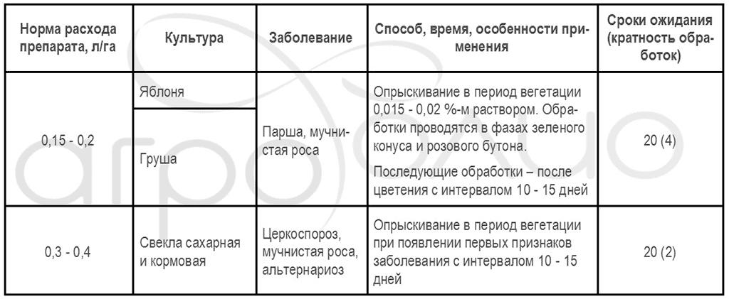 Регламент применения фунгицида Раёк