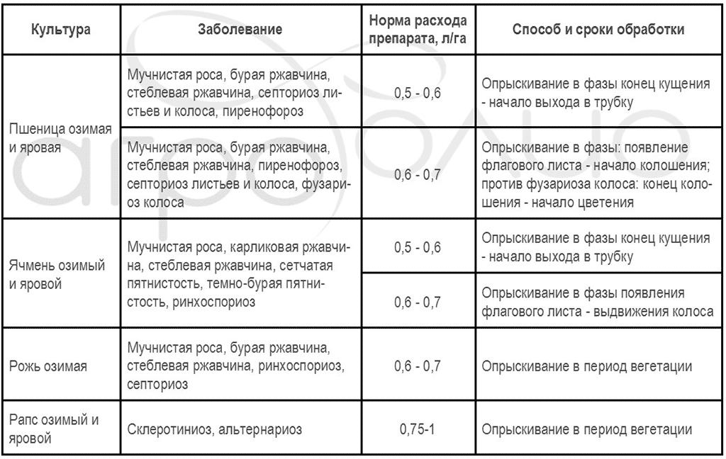 Регламент применения фунгицида Спирит